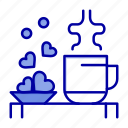 cup, hearts, love, loving, tea, wedding