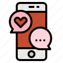 conversation, love, message, phone, romance