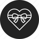 gift, heart, shape, valentine icon