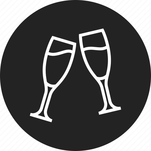 celebration, champagne, glasses icon
