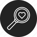 find, friend, love, search icon