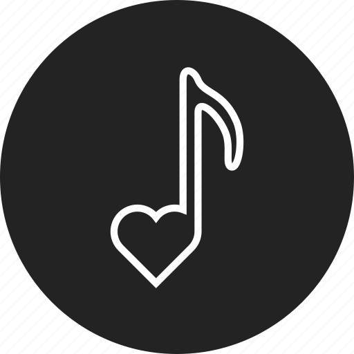 love, note, song icon