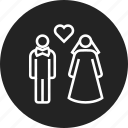 family, marriage, wedding icon