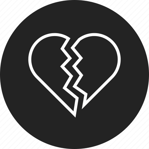 breakup, broken, heart icon