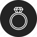 diamond, engagement, ring icon