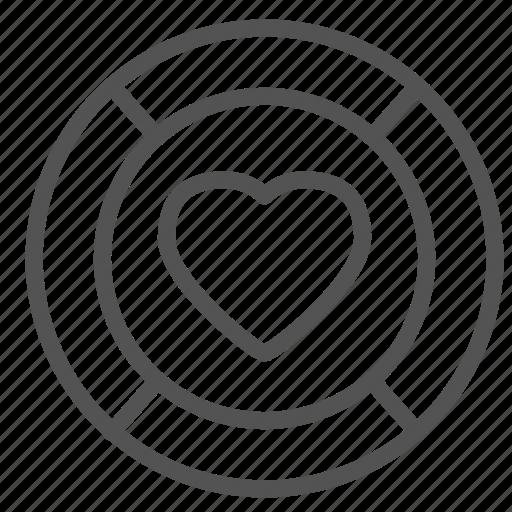 circle, heart, love, round icon
