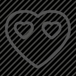 avatar, face, heart, love icon