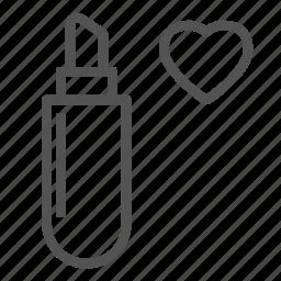 heart, lady, lipstick, love, woman icon