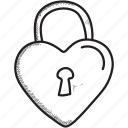 day, feelings, love, open, padlock, valentines icon
