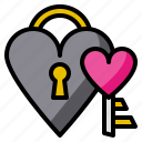 key, lock, heart, love, together