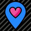 loacation, love, romance, heart, pin