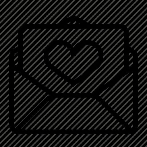 letter, love, romance icon