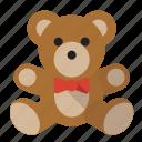 bear, love, romance, teddy icon