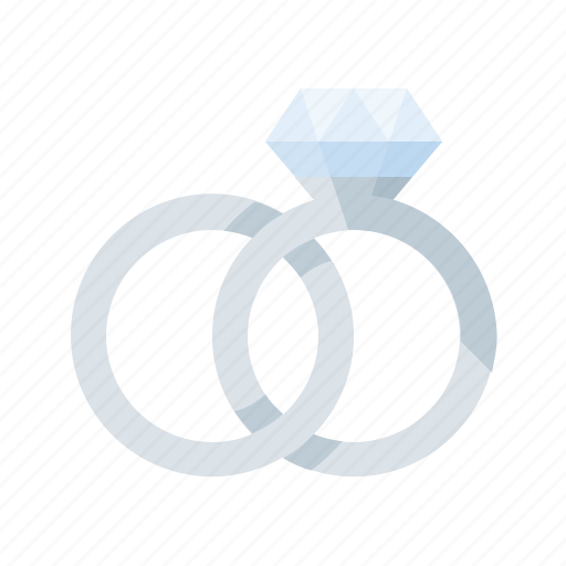 love, platinum, rings, romance, wedding icon
