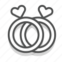 couple, dating, heart, love, rings, romance, wedding icon