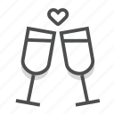 dating, drink, heart, love, romance, valentine, wedding icon