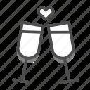 dating, drink, heart, love, romance, valentine, wedding