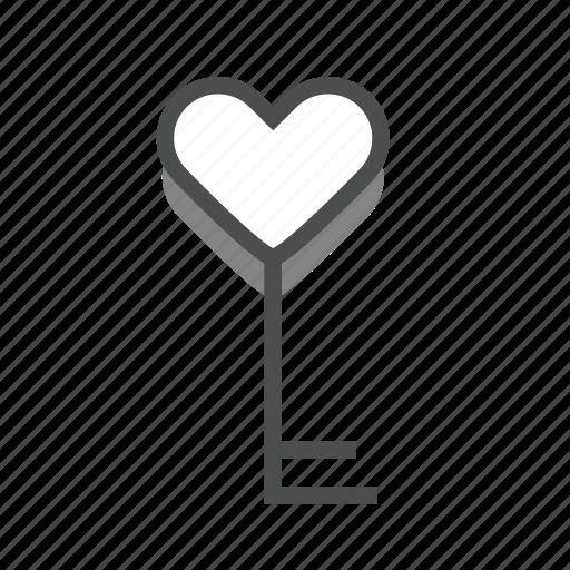 dating, heart, key, love, romance, valentine, wedding icon