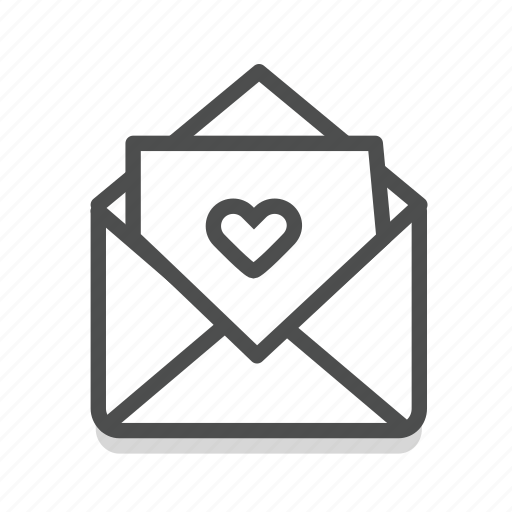 dating, heart, letter, love, romance, valentine, wedding icon