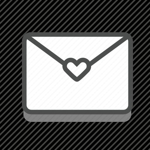 dating, heart, letter, love, romance, valentine, wedding icon