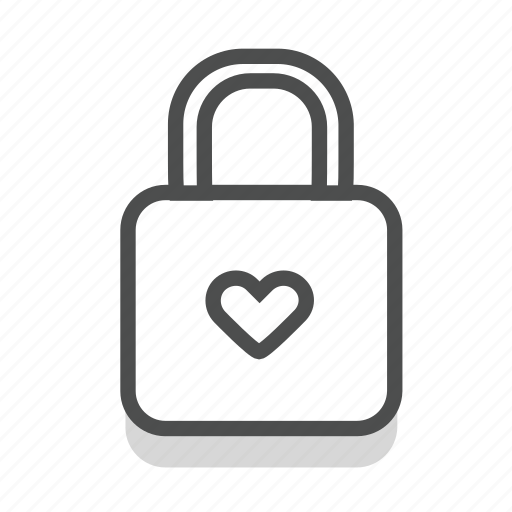 dating, heart, lock, love, romance, valentine, wedding icon