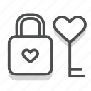 dating, heart, lock, love, romance, valentine, wedding icon