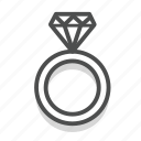 dating, heart, love, ring, romance, valentine, wedding icon