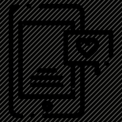 bubble, chat, love, mobile icon