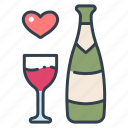 alcohol, champagne, drink, glass, party, wine icon