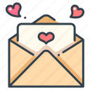 card, heart, letter, love, mail, romantic, valentine icon