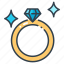 diamond, engagement, gift, jewelry, marriage, ring, wedding icon