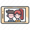 couple, happy, love, lovers, relationship, selfie, together icon