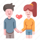 woman, man, relationship, love, together, romantic, couple icon