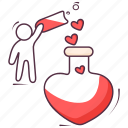 flask, love potion, magic potion, potion, potion bottle icon