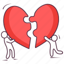 heart jigsaw, heart puzzle, love jigsaw, love puzzle, valentine puzzle icon