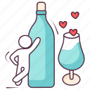 alcohol, beer, cheers, valentine drink, wine, wine glass icon