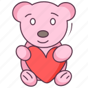 cute bear, love bear, love teddy, soft toy, teddy bear, valentine teddy icon