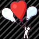 heart balloons, love balloons, love party, valentine balloons, wedding celebration icon