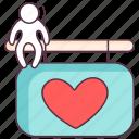 heart board, love board, love sign, sign board, valentine board icon