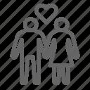 couple, heart, love icon