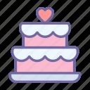 cake, wedding, food, dessert, celebrate, event