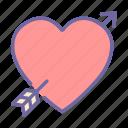 valentine, romance, love, arrow, heart, cupid