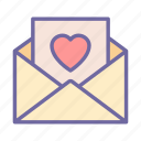 love, envelope, letter, mail, message, valentine