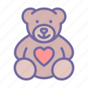 heart, animal, toy, love, teddy bear, gift