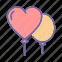balloon, decoration, celebration, party, birthday, valentine