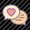 bubble, speech, chat, message, love, talk