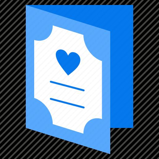 card, greeting, valentine icon