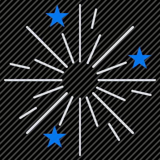 firework, fireworks, stars icon