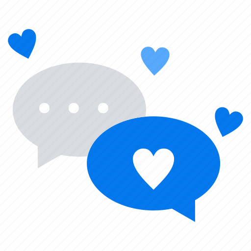 chat, love, messages icon