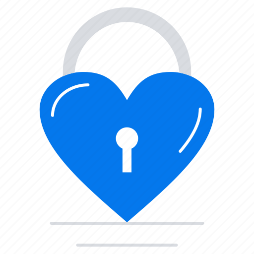 heart, lock, love icon